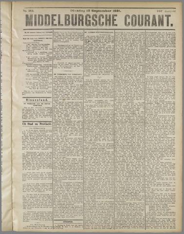 Middelburgsche Courant 1921-09-13