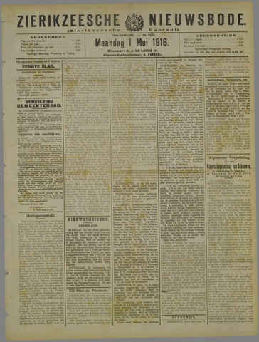 Zierikzeesche Nieuwsbode 1916-05-01
