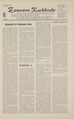 Zeeuwsche kerkbode, weekblad gewijd aan de belangen der gereformeerde kerken/ Zeeuwsch kerkblad 1966-02-18