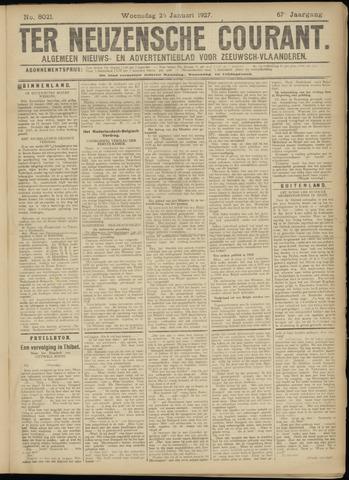 Ter Neuzensche Courant. Algemeen Nieuws- en Advertentieblad voor Zeeuwsch-Vlaanderen / Neuzensche Courant ... (idem) / (Algemeen) nieuws en advertentieblad voor Zeeuwsch-Vlaanderen 1927-01-26