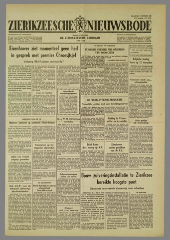 Zierikzeesche Nieuwsbode 1960-10-03