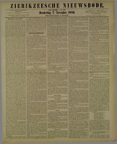Zierikzeesche Nieuwsbode 1889-11-07