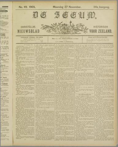 De Zeeuw. Christelijk-historisch nieuwsblad voor Zeeland 1905-11-27