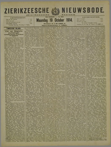 Zierikzeesche Nieuwsbode 1914-10-19