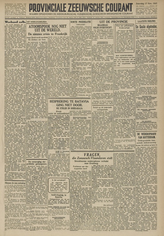 Provinciale Zeeuwse Courant 1945-11-17