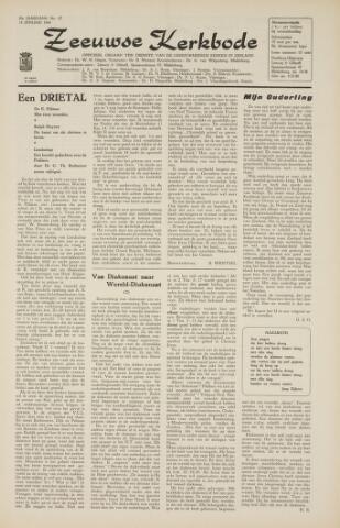 Zeeuwsche kerkbode, weekblad gewijd aan de belangen der gereformeerde kerken/ Zeeuwsch kerkblad 1966-01-14