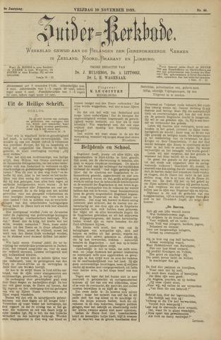 Zuider Kerkbode, Weekblad gewijd aan de belangen der gereformeerde kerken in Zeeland, Noord-Brabant en Limburg. 1899-11-10
