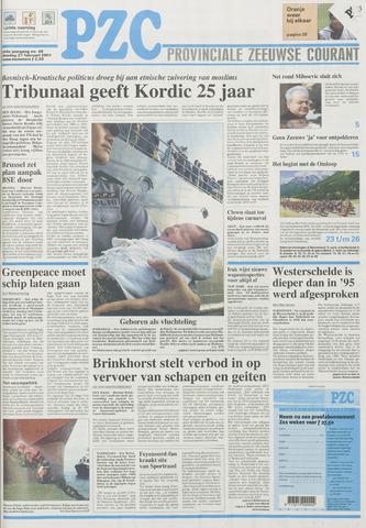 Provinciale Zeeuwse Courant 2001-02-27