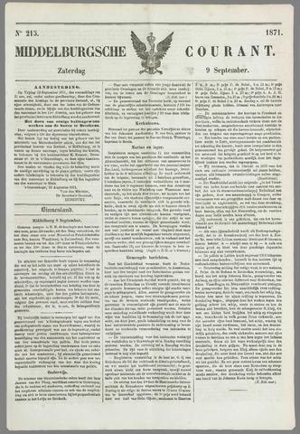 Middelburgsche Courant 1871-09-09