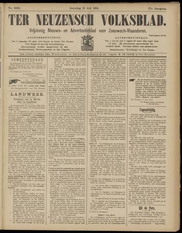 Ter Neuzensch Volksblad. Vrijzinnig nieuws- en advertentieblad voor Zeeuwsch- Vlaanderen / Zeeuwsch Nieuwsblad. Nieuws- en advertentieblad voor Zeeland 1916-07-22