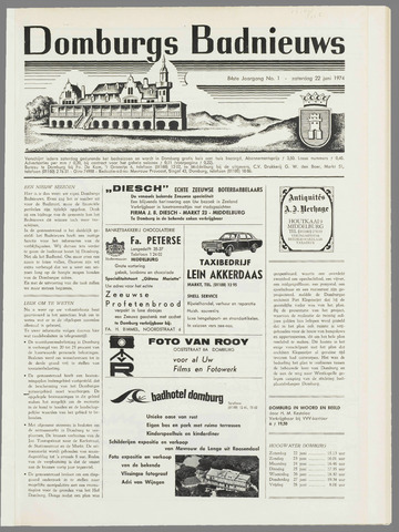 Domburgsch Badnieuws 1974