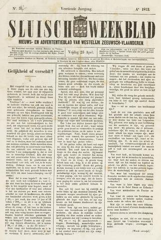 Sluisch Weekblad. Nieuws- en advertentieblad voor Westelijk Zeeuwsch-Vlaanderen 1873-04-25