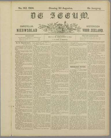 De Zeeuw. Christelijk-historisch nieuwsblad voor Zeeland 1904-08-30