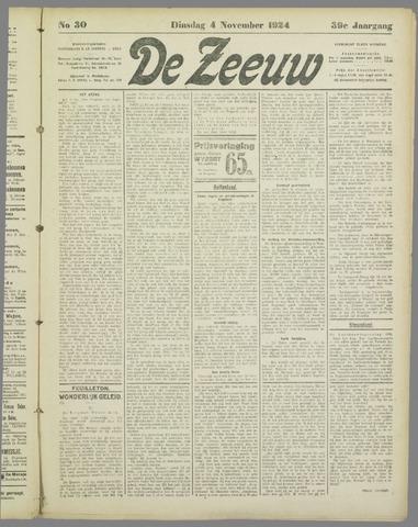 De Zeeuw. Christelijk-historisch nieuwsblad voor Zeeland 1924-11-04