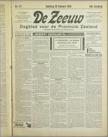 De Zeeuw. Christelijk-historisch nieuwsblad voor Zeeland 1929-02-16