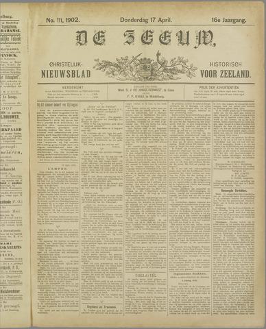 De Zeeuw. Christelijk-historisch nieuwsblad voor Zeeland 1902-04-17