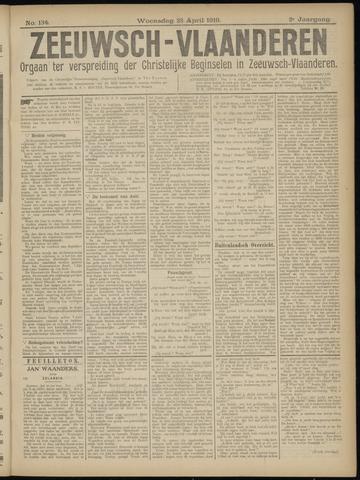 Luctor et Emergo. Antirevolutionair nieuws- en advertentieblad voor Zeeland / Zeeuwsch-Vlaanderen. Orgaan ter verspreiding van de christelijke beginselen in Zeeuwsch-Vlaanderen 1919-04-23