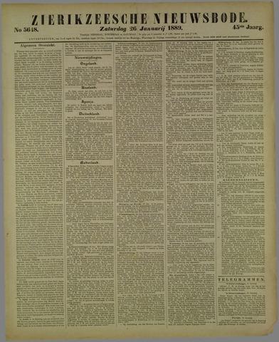 Zierikzeesche Nieuwsbode 1889-01-26