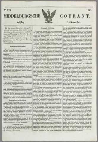 Middelburgsche Courant 1871-11-24