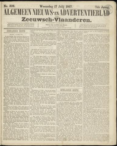 Ter Neuzensche Courant. Algemeen Nieuws- en Advertentieblad voor Zeeuwsch-Vlaanderen / Neuzensche Courant ... (idem) / (Algemeen) nieuws en advertentieblad voor Zeeuwsch-Vlaanderen 1867-07-17