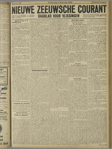 Nieuwe Zeeuwsche Courant 1920-11-04