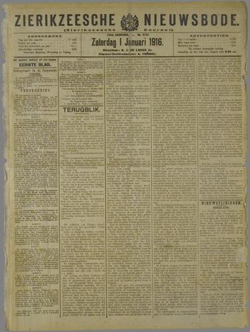 Zierikzeesche Nieuwsbode 1916-01-01