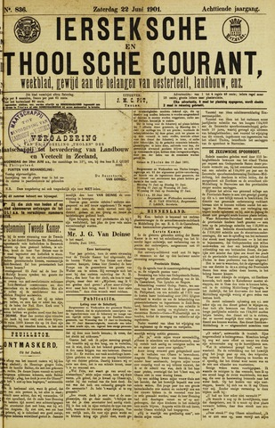 Ierseksche en Thoolsche Courant 1901-06-22