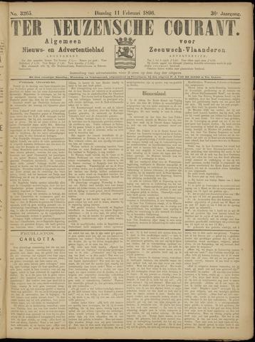 Ter Neuzensche Courant. Algemeen Nieuws- en Advertentieblad voor Zeeuwsch-Vlaanderen / Neuzensche Courant ... (idem) / (Algemeen) nieuws en advertentieblad voor Zeeuwsch-Vlaanderen 1896-02-11