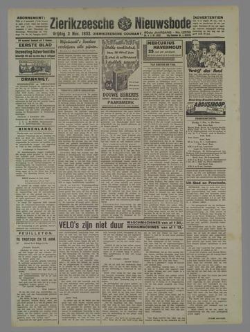 Zierikzeesche Nieuwsbode 1933-11-03