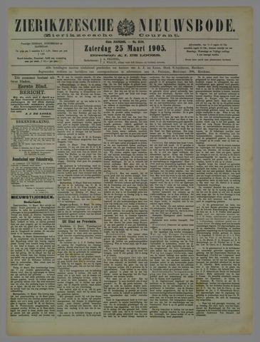 Zierikzeesche Nieuwsbode 1905-03-25
