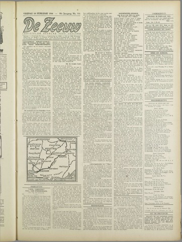 De Zeeuw. Christelijk-historisch nieuwsblad voor Zeeland 1944-02-18