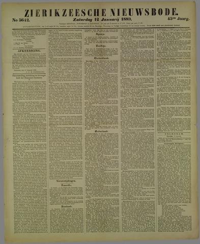Zierikzeesche Nieuwsbode 1889-01-12