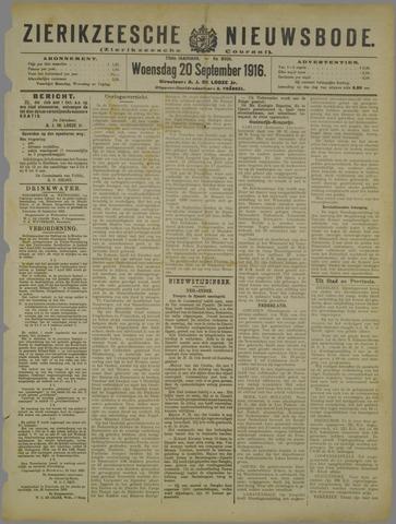Zierikzeesche Nieuwsbode 1916-09-20