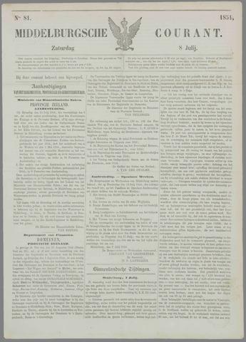 Middelburgsche Courant 1854-07-08