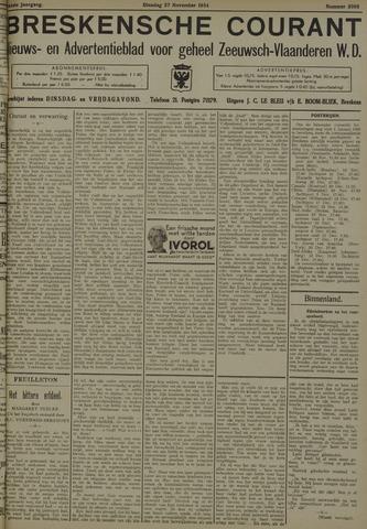 Breskensche Courant 1934-11-27