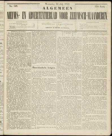 Ter Neuzensche Courant. Algemeen Nieuws- en Advertentieblad voor Zeeuwsch-Vlaanderen / Neuzensche Courant ... (idem) / (Algemeen) nieuws en advertentieblad voor Zeeuwsch-Vlaanderen 1872-07-24