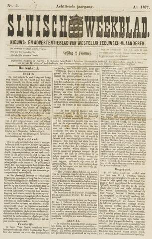 Sluisch Weekblad. Nieuws- en advertentieblad voor Westelijk Zeeuwsch-Vlaanderen 1877-02-02