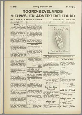 Noord-Bevelands Nieuws- en advertentieblad 1948-02-28
