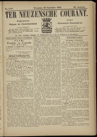 Ter Neuzensche Courant. Algemeen Nieuws- en Advertentieblad voor Zeeuwsch-Vlaanderen / Neuzensche Courant ... (idem) / (Algemeen) nieuws en advertentieblad voor Zeeuwsch-Vlaanderen 1882-09-20