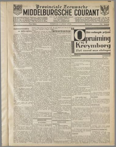 Middelburgsche Courant 1930-07-04