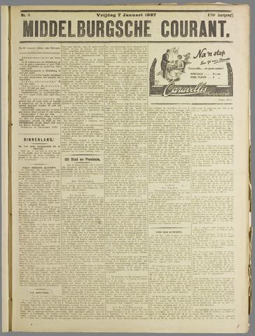 Middelburgsche Courant 1927-01-07