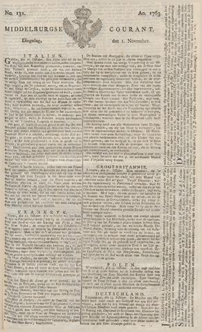 Middelburgsche Courant 1763-11-01