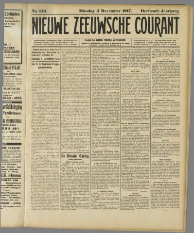 Nieuwe Zeeuwsche Courant 1917-12-04