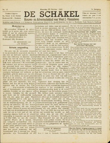 De Schakel 1945-10-22