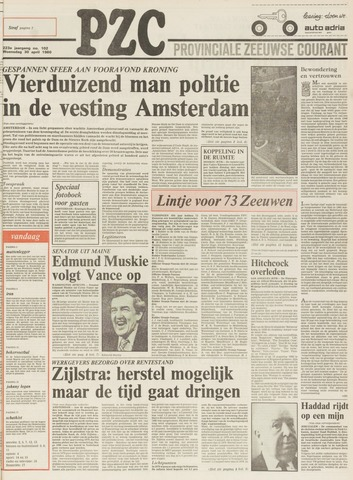 Provinciale Zeeuwse Courant 1980-04-30