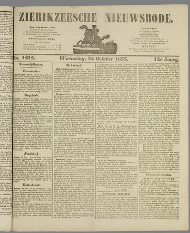 Zierikzeesche Nieuwsbode 1855-10-24