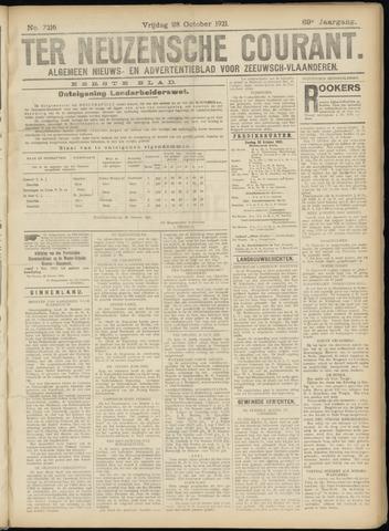 Ter Neuzensche Courant. Algemeen Nieuws- en Advertentieblad voor Zeeuwsch-Vlaanderen / Neuzensche Courant ... (idem) / (Algemeen) nieuws en advertentieblad voor Zeeuwsch-Vlaanderen 1921-10-28