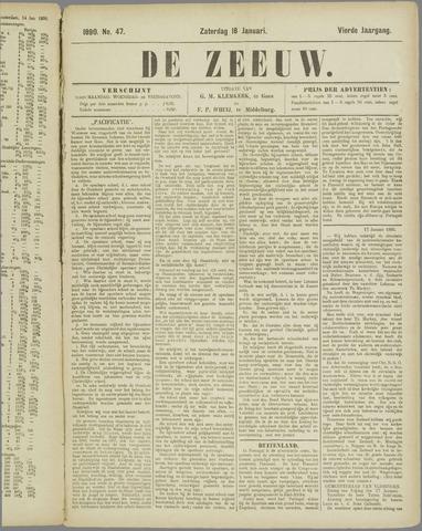 De Zeeuw. Christelijk-historisch nieuwsblad voor Zeeland 1890-01-18