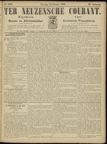 Ter Neuzensche Courant. Algemeen Nieuws- en Advertentieblad voor Zeeuwsch-Vlaanderen / Neuzensche Courant ... (idem) / (Algemeen) nieuws en advertentieblad voor Zeeuwsch-Vlaanderen 1886-10-23