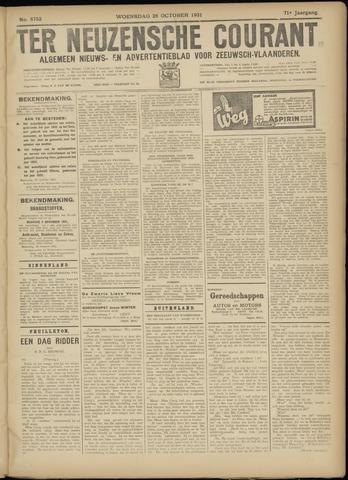 Ter Neuzensche Courant. Algemeen Nieuws- en Advertentieblad voor Zeeuwsch-Vlaanderen / Neuzensche Courant ... (idem) / (Algemeen) nieuws en advertentieblad voor Zeeuwsch-Vlaanderen 1931-10-28